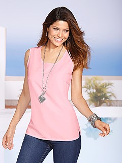 Scoop Neck Sleeveless Blouse product image (247465.RS.4.1_WithBackground)
