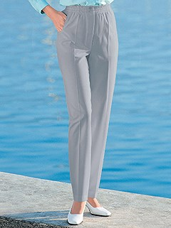 Pleated Stretch Waist Pants product image (281446.SVGY.3.13_WithBackground)
