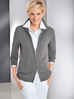 Ribbed Zip Up Cardigan product image (282662.GYMO.1.9_WithBackground)