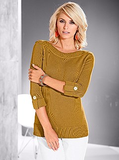 Ribbed Boatneck Sweater product image (282663.DKYL.2.1)