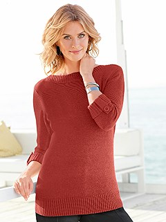 Ribbed Boatneck Sweater product image (282663.RU.3.9_WithBackground)