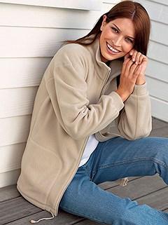 Fleece Zip Up Cardigan product image (283074.STNE.1.P)