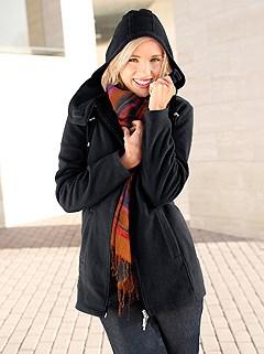 Hooded Fleece Long Cardigan product image (283959.BK.2.1_WithBackground)