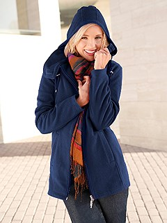 Hooded Fleece Long Cardigan product image (283959.NV.1.1_WithBackground)