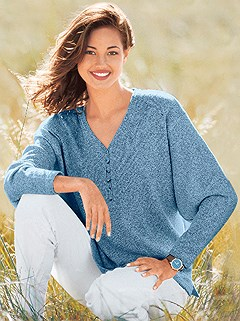 Boucle Drop Sleeve Sweater product image (287205.BL.1.1_WithBackground)