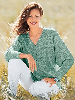 Boucle Drop Sleeve Sweater product image (287205.MT.1.1_WithBackground)