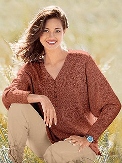 Boucle Drop Sleeve Sweater product image (287205.TC.1.1_WithBackground)