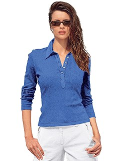 Long Sleeve Polo Top product image (287382.BL.1.HE)