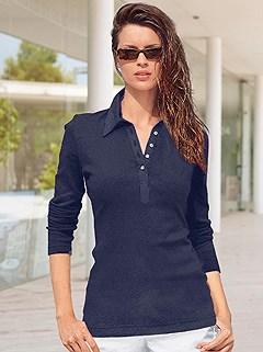 Long Sleeve Polo Top product image (287382.NV.1.HE)