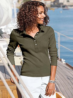 Long Sleeve Polo Top product image (287382.OL.1.3_WithBackground)