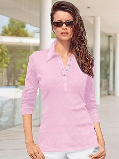 Long Sleeve Polo Top product image (287382.RS.1.HE)