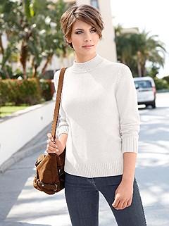 Ribbed Hem Turtleneck Sweater product image (287458.OFWH.2.1)