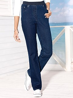 Elastic Ribbed Waist Jeans product image (289857.BLUS.3.1_WithBackground)