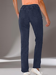 Stretch Waistband Jeans product image (294117.DKBL.3.1_WithBackground)