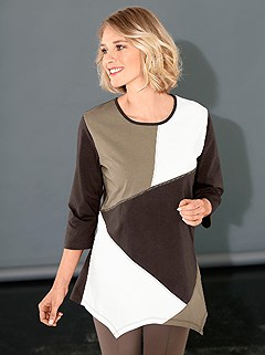 Patchwork Style Jersey Tunic product image (295347.CHMU.2.1_WithBackground)