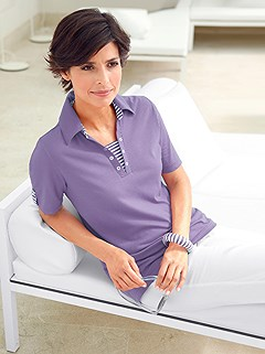 Stripe Accent Polo Top product image (299770.LV.1.9_WithBackground)