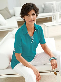 Stripe Accent Polo Top product image (299770.PE.2.9_WithBackground)