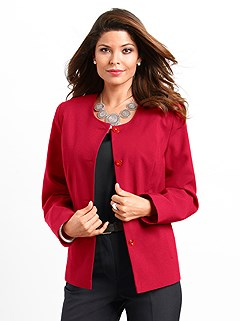 Structured Button Up Jacket product image (300291.RD.2.1_M)