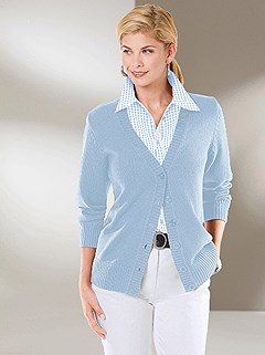 Ribbed Knit Button Up Cardigan product image (303089.IB.2.1_WithBackground)