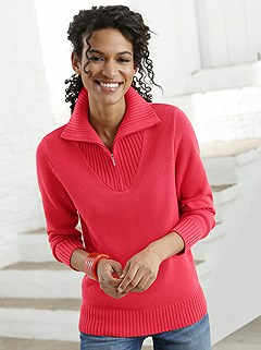 Zip Pullover Sweater product image (303403.CO.2-S)