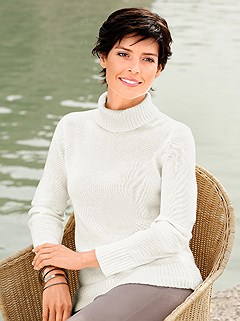 Ribbed Turtleneck Sweater product image (309549.OFWH.2.9_WithBackground)