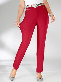 Pocket Detail Pants product image (315542.CHRY.3.94_WithBackground)