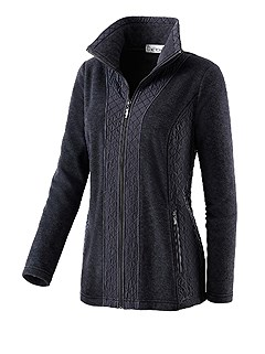 Quilted Fleece Zip Cardigan product image (324847.BK.1.10_Ghost)