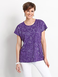 Linear Floral Print Top product image (328513.PURP.1.1_WithBackground)