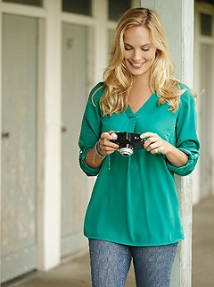 Tab Sleeve Blouse product image (330842.JD.1.HE)
