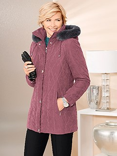 Faux Fur Trim Jacket product image (339096.RSDU.1.1_WithBackground)