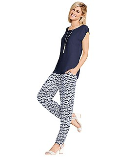 Slip On Jersey Print Pants product image (343845-NV_343890-NVPR.001)
