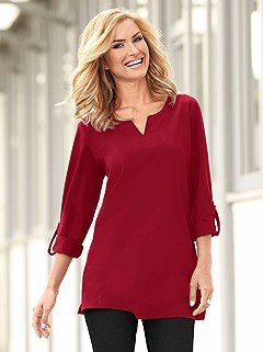 Casual Tab Sleeve Tunic product image (344111.BORD.4.P)