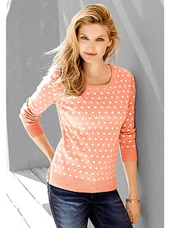 Polka Dot Jacquard Knit Sweater product image (345311.APDT.1.1_WithBackground)