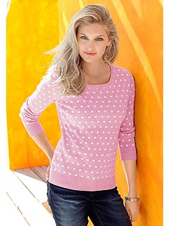 Polka Dot Jacquard Knit Sweater product image (345311.RSDT.2.10_WithBackground)