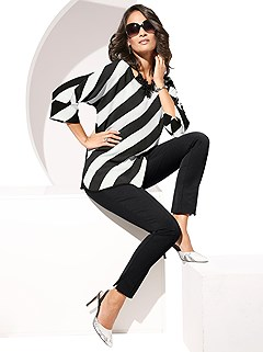 Striped Blouse product image (345778-BKWH.001)