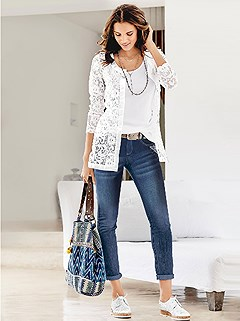 Lace Cardigan product image (346003.WH.HE)