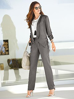 Ruched Blazer product image (346217.TP.346218.TP.1.HE)