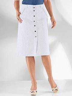 Tie Waist Denim Skirt product image (349410.WH.1.13_WithBackground)