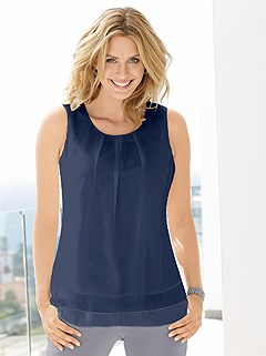 Layered Pleated Top product image (349610.NV.1)