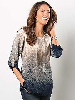 Ombre Effect Patterned Blouse product image (353694.NVPR.2.P)