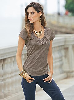 Lace Neckline Top product image (356019.TPMO.1.HE)