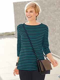Classic Striped 3/4 Sleeve Top product image (357791.PEST.1.1_WithBackground)