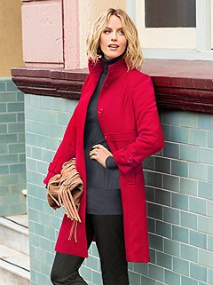 Belted Cuff Detail Coat product image (357944.CHRY.1.M)