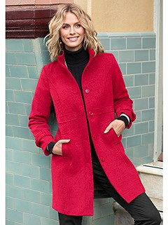 Belted Cuff Detail Coat product image (357944.CHRY.3.7)