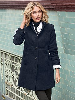 Belted Cuff Detail Coat product image (357944.NV.2.8)