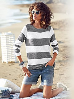 Wide Striped Sweater product image (362238.GYWH.1.HE)