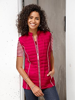 Quilted Viennese Seams Vest product image (365161.RDWH.2.1_WithBackground)