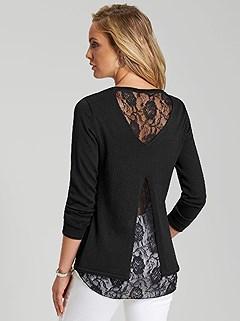 Filigree Lace Back Sweater product image (367337.BK.3.28_WithBackground)