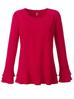 Long Sleeve Blouse product image (367340.RD.1.HE)