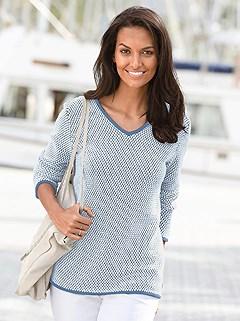 9cf79c452ed5 two-tone long sleeve sweater $49 $34